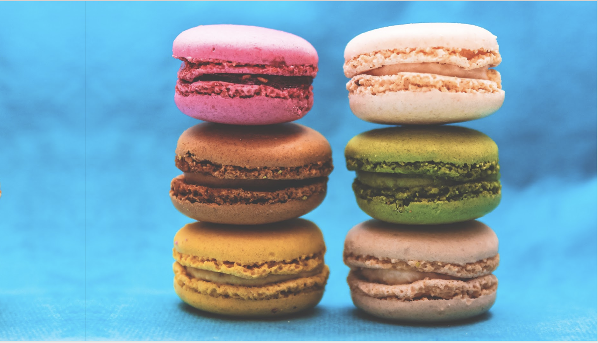 Same macarons image, mirrored. The join between the two images is visible on the left hand side. It's hard to unsee once you see it.