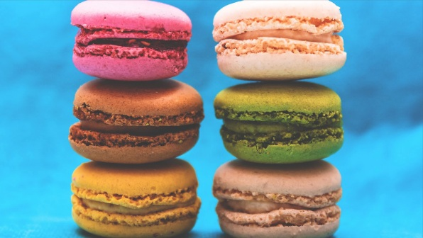 Six delicious macarons. Image:  Baher Khairy  on Unsplash, cropped by the Unsplash add-on in Google slides.