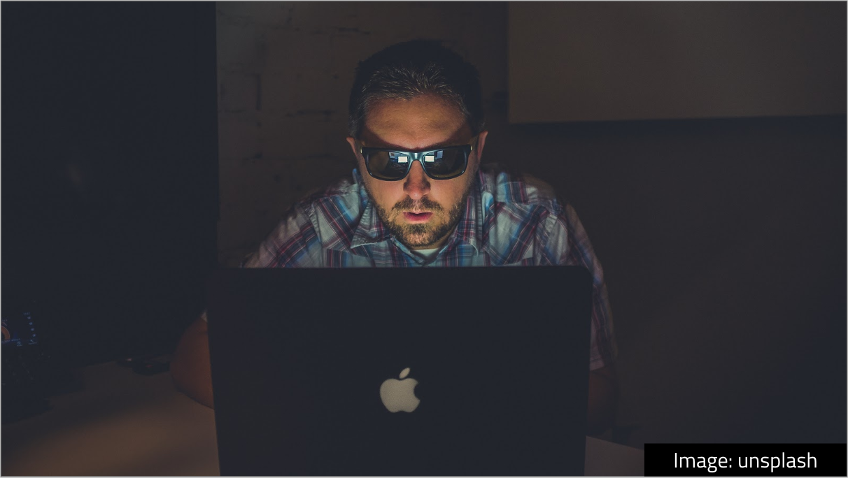 - I've been in tech a fairly long time — I graduated in 1999 — and something I like is how the image of a programmer has slowly shifted over time. It used to be extremely this guy: omg hacker sitting alone in the dark (with inexplicable sunglasses).
