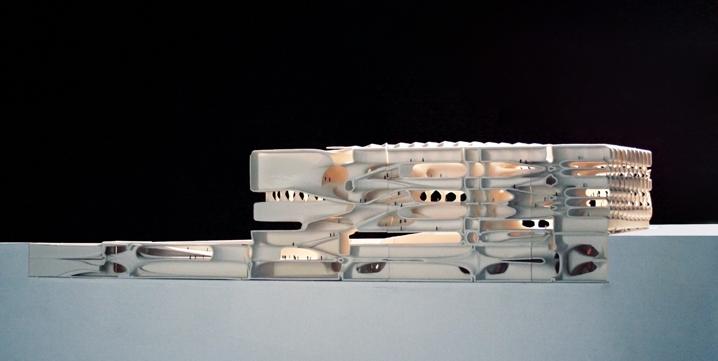 Section Model. Scale 1:300