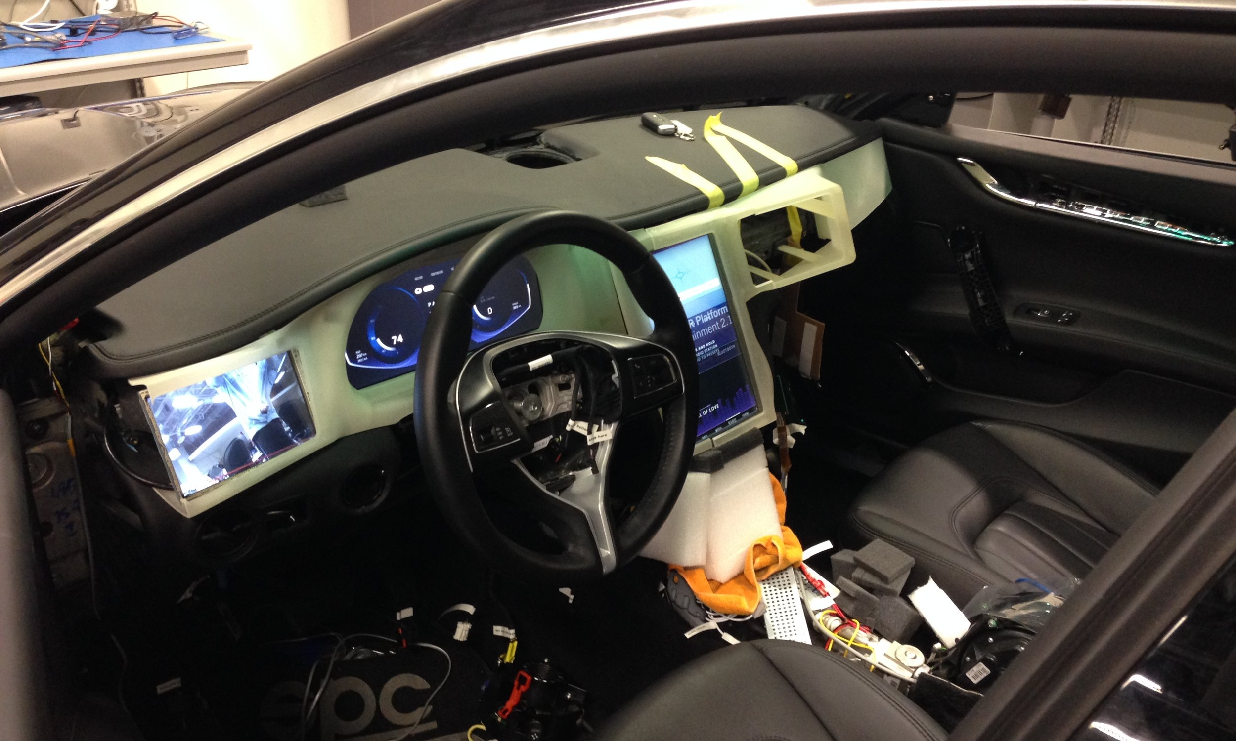 Maserati Dash Test Fit