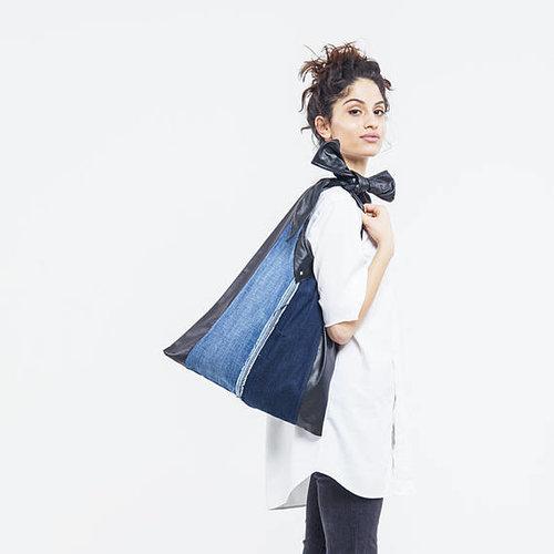 KinsuAtelier  - Brand  Upcycled denim bag