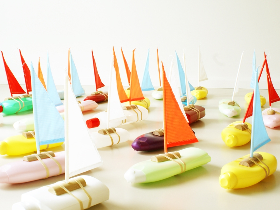 Bottle boat by Floris Hovers  - Books  Book:  Think Dutch!