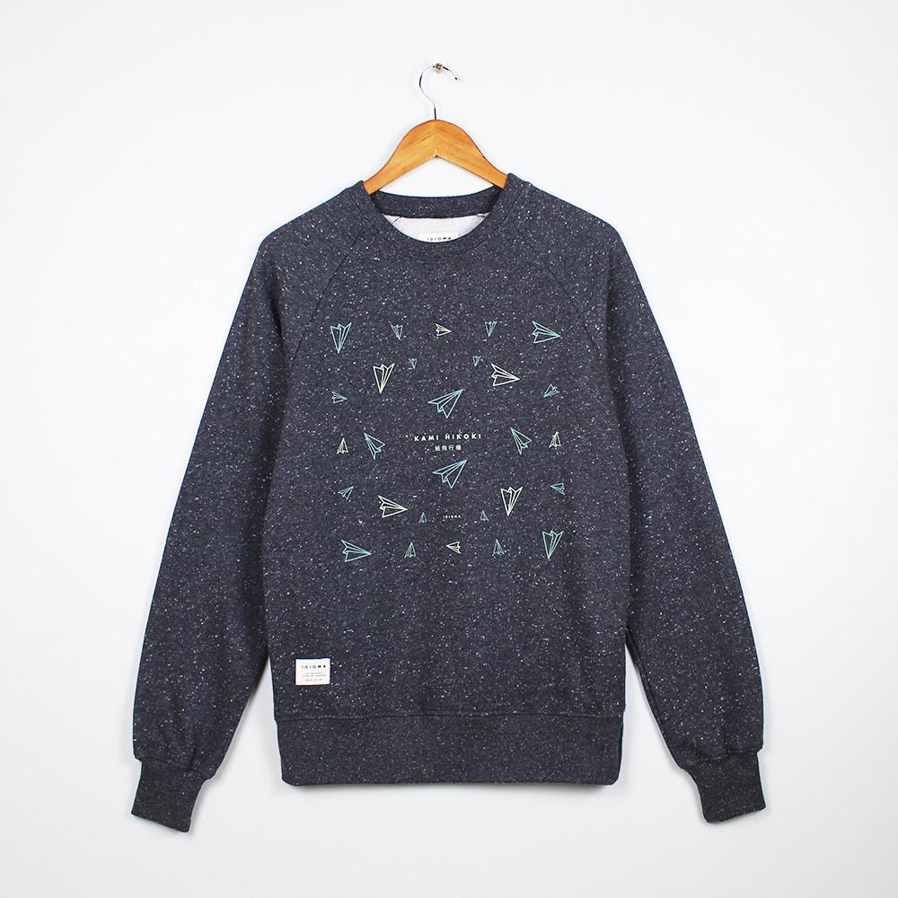 Idioma Organic Paper Planes Starry Sky Sweatshirt