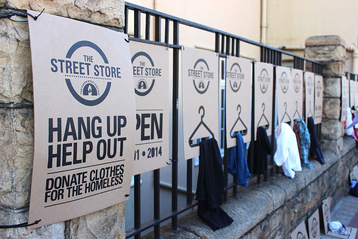 The Street Store gives homeless men and women an opportunity to shop for clothing they like.