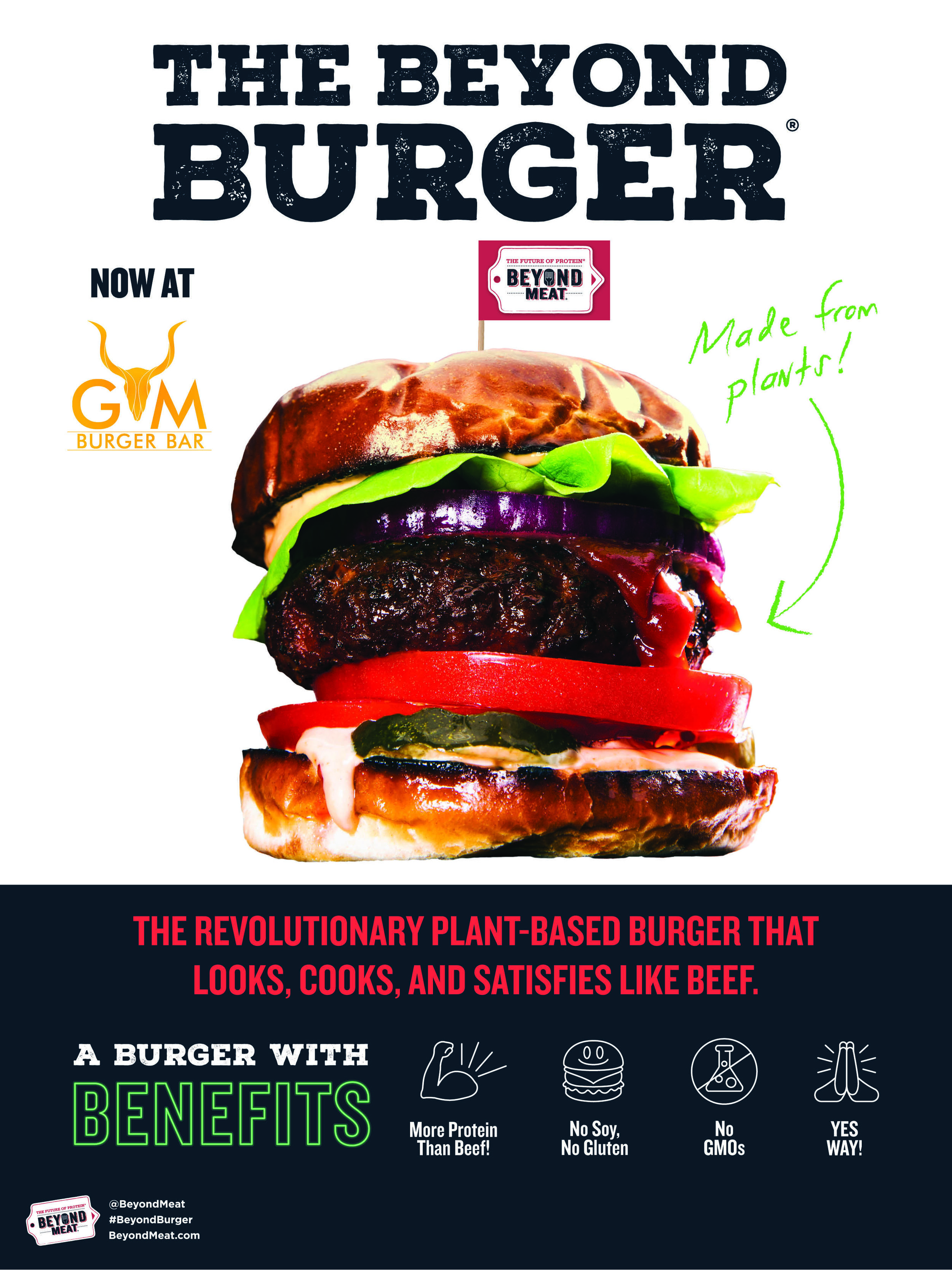 Beyond Burger promotion, plant based burger