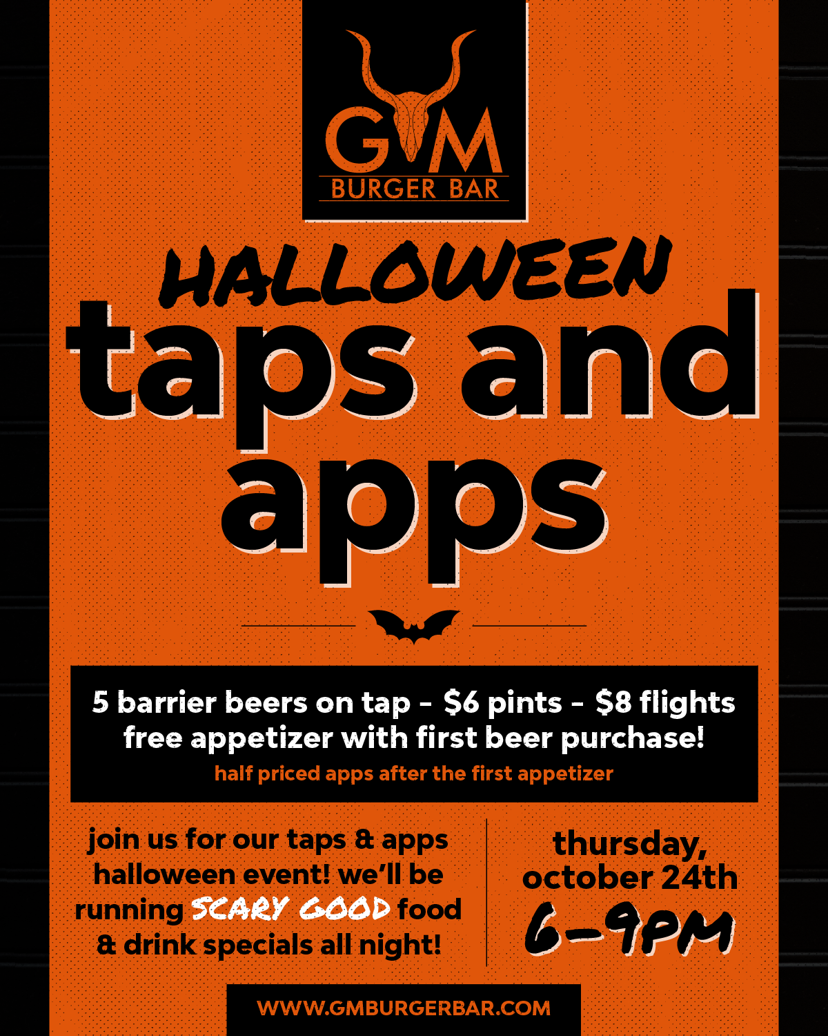 Taps and Apps Halloween Event