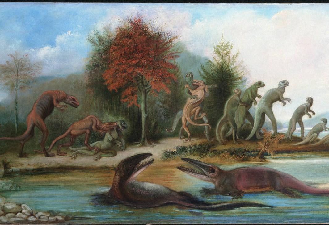 Cretaceous Life of New Jersey , 1877, Benjamin Waterhouse Hawkins (1807–1894), Princeton University Art Museum