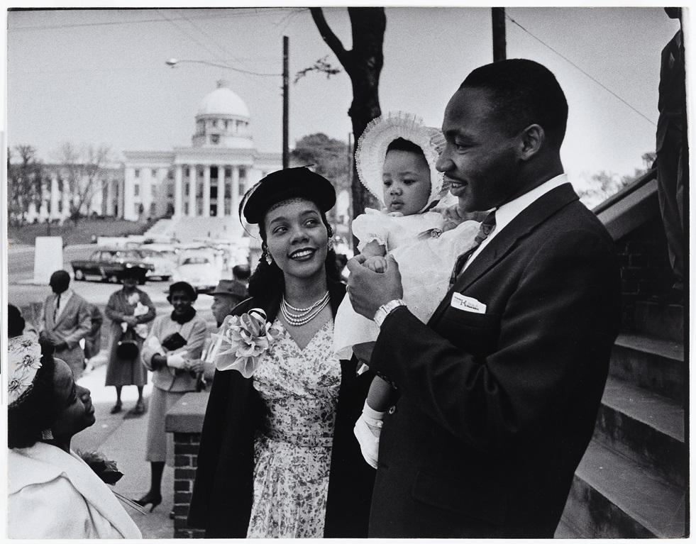 Martin Luther King Jr. with Coretta Scott King, Yolanda Denise King , 1956, Dan Weiner (1919–1959), National Portrait Gallery, Smithsonian Institution