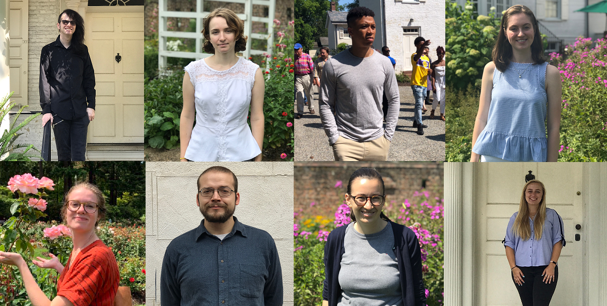 Morven's Ssummer Interns pictured above. (L-R top row) Kyle, Liz, Malachi, and Caroline (L-R Bottom row) Kate, Tom, Isabel, and Tori