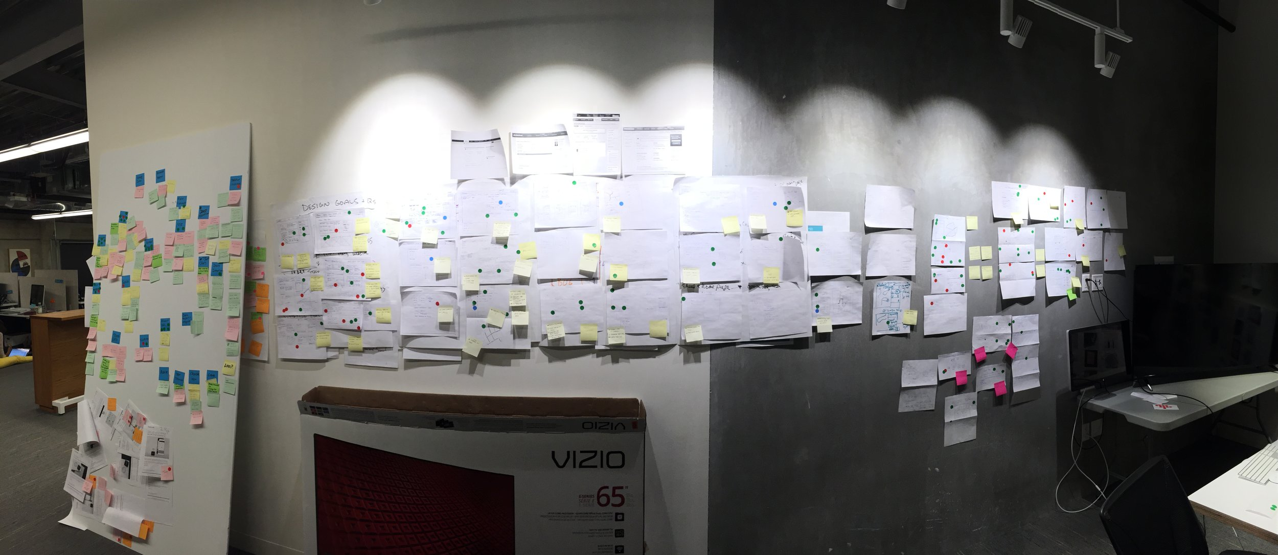 Designers, product managers, and engineers sketched ideas based on the MVP product and voted on ideas.