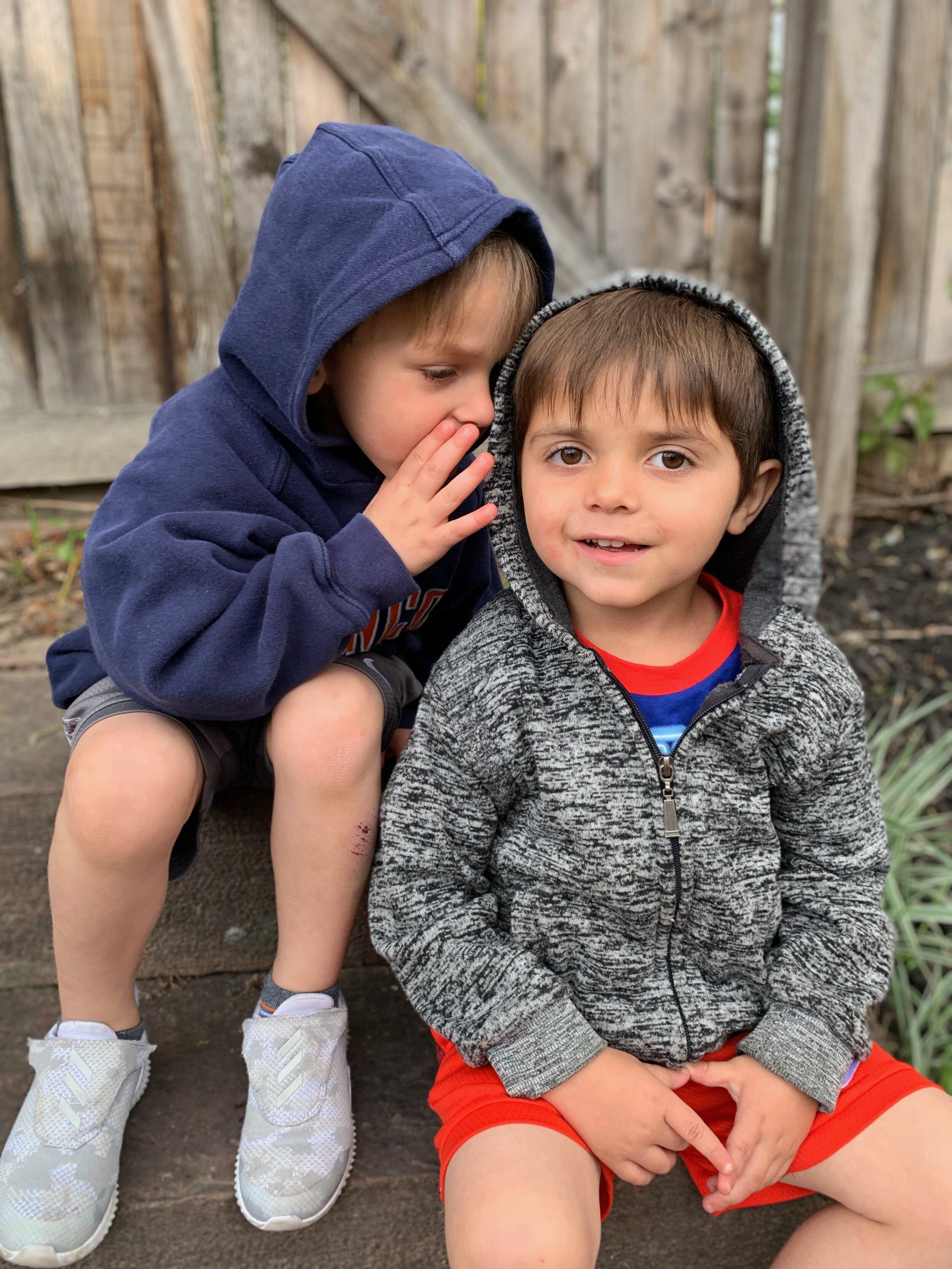 "Landon & Levi… just turned ""The Big 4""!"