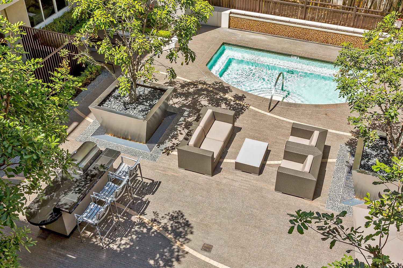 Viridian Apartments, Pool Deck