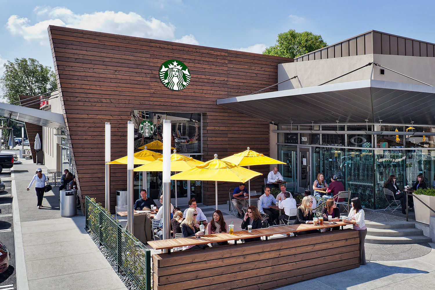 Starbucks Patio with People