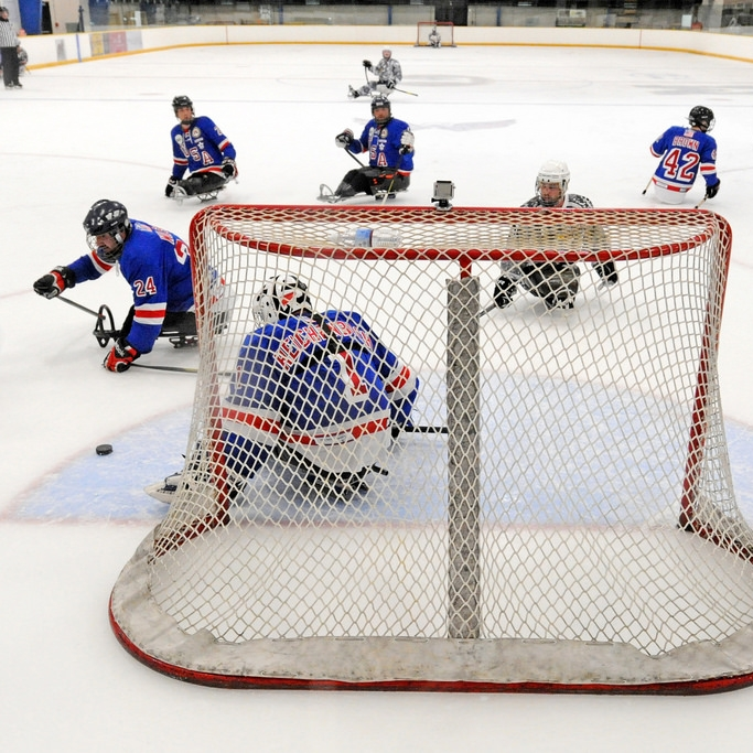 Sled hockey is an all-inclusive sport.