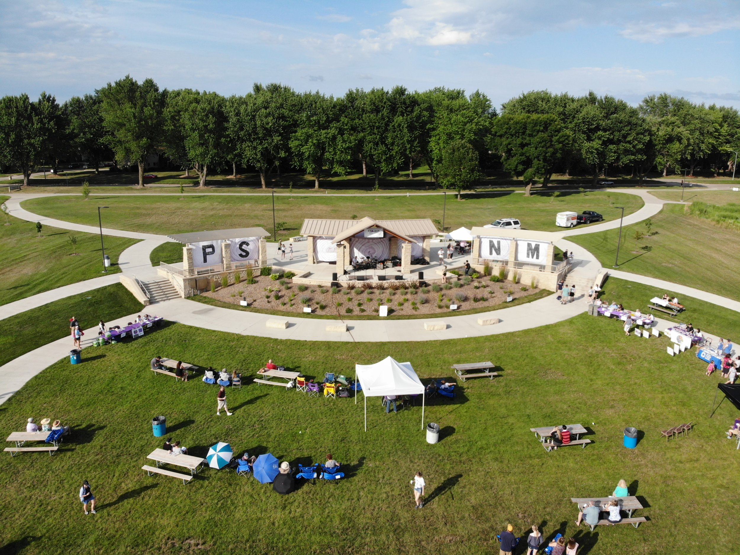 A bird's eye view of Terra Park the day of the concert.