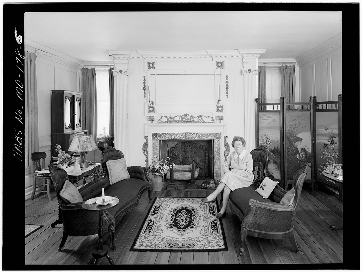 Martha carter (previously callahan) can be seen above in one of the historic american building survey photos taken in the 1950s. she is the mother of both mary (callahan) pippin and elizabeth (carter) brice.