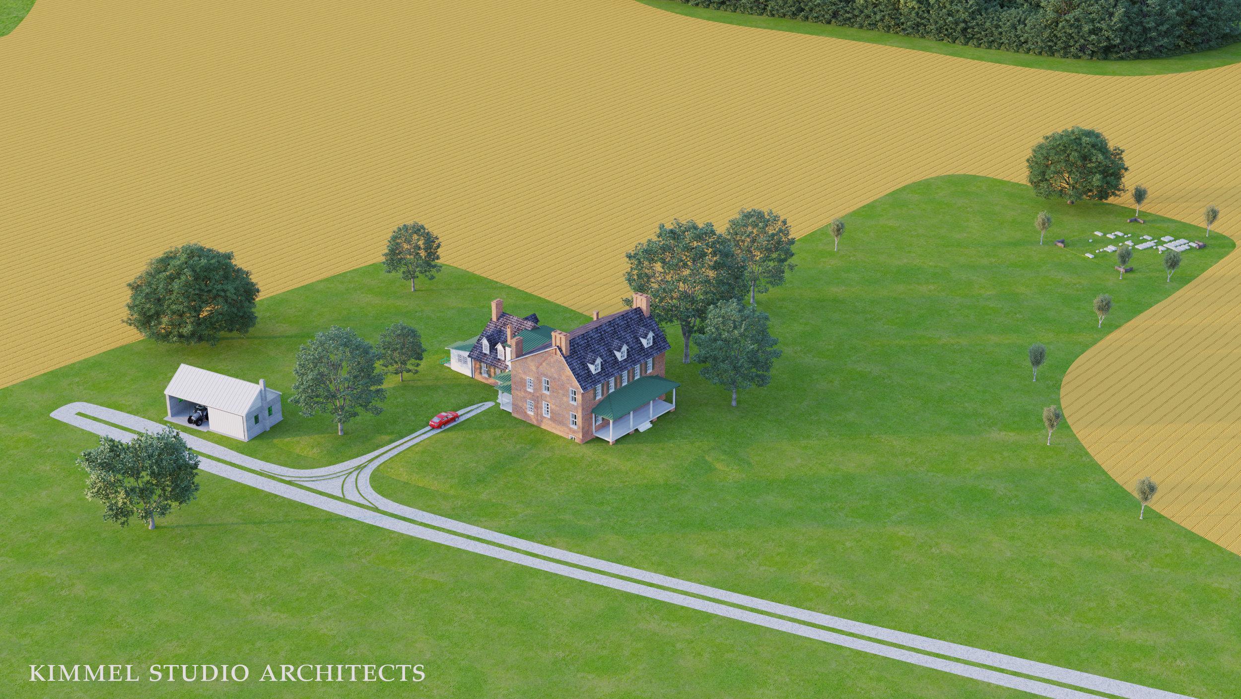 Kimmel Studio Architects - Cloverfields 3D Studies - Existing Site Aerial.jpg