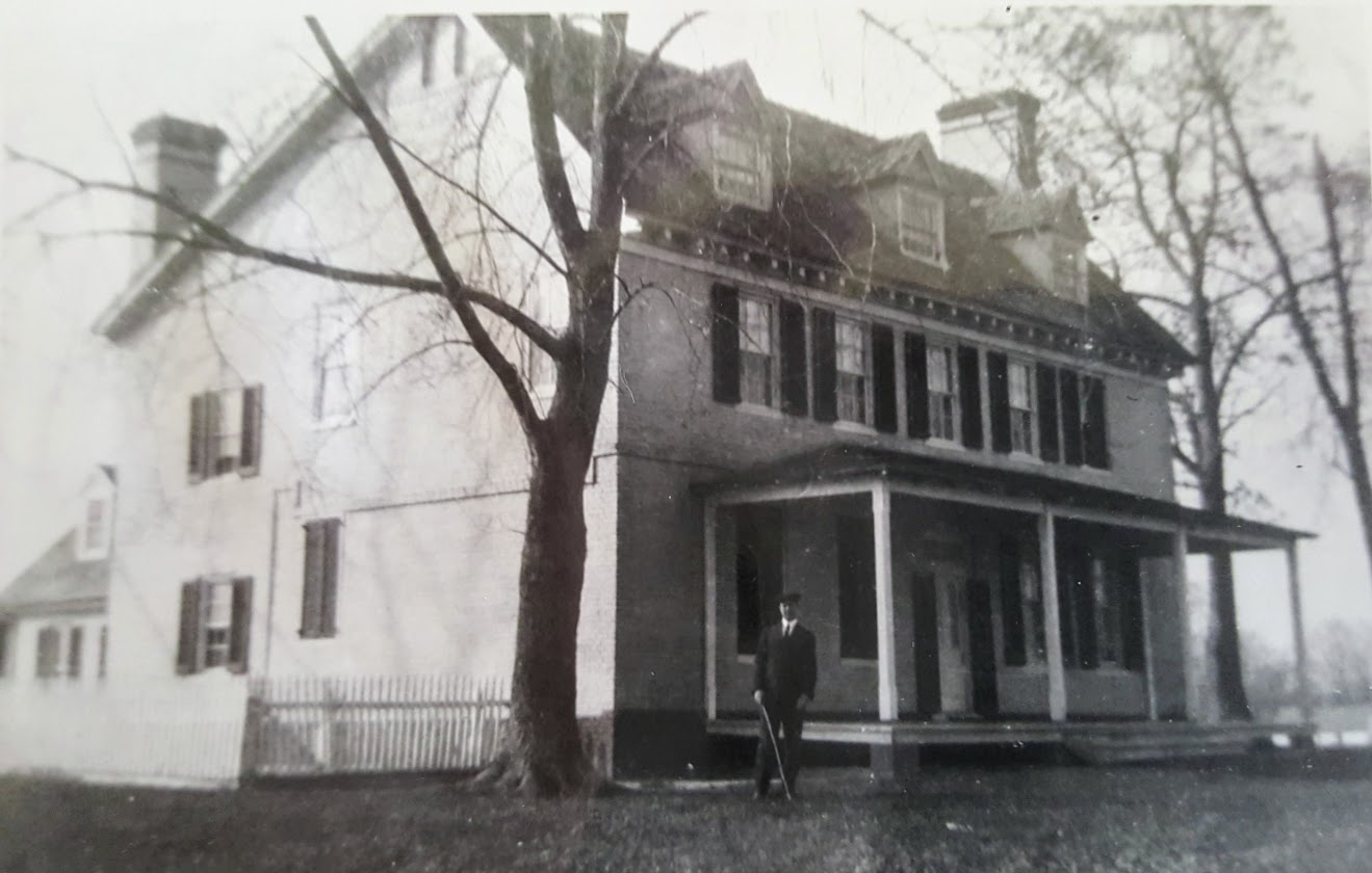 This is one of the few PHOTOgraphs where the ORIGINAL CORNICE is visible.The date is unknown. The photograph was GRACIOUSLY PROVIDED BY THE PIPPIN FAMily, who lived in the house during the twentieth century.