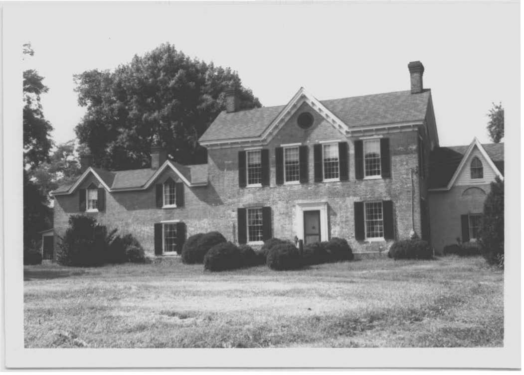 a partial inventory of the items that could be find at Cloverfields c. 1864 was found in another historic Maryland House, Poplar Grove. Poplar Grove is located in Centreville, Maryland. / Photo: Maryland Inventory of Historic Properties. QA-191 Poplar Grove, Centreville Vicinity, Front (northeast) facade. MHT File photo.
