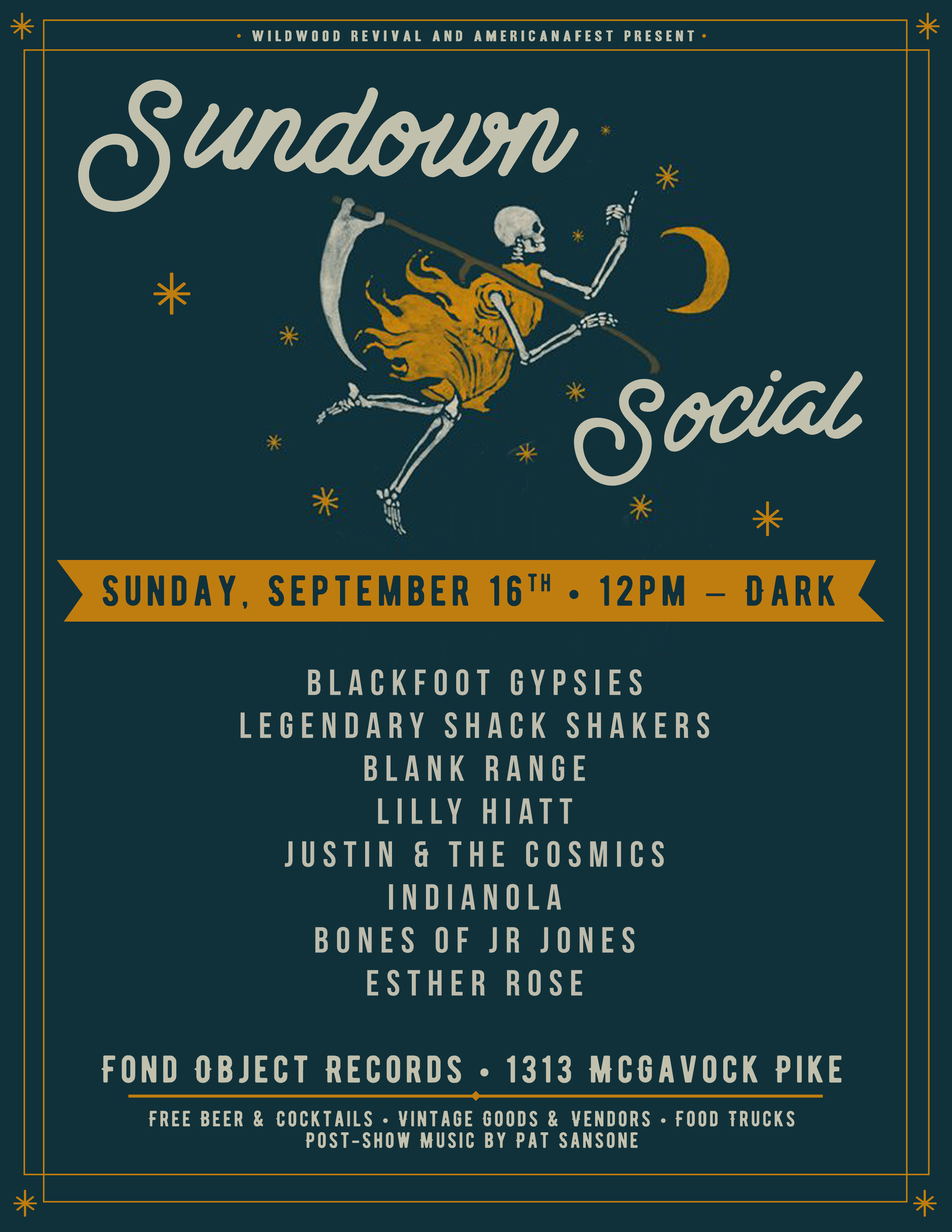 Sundown Social Flyer. 2018.