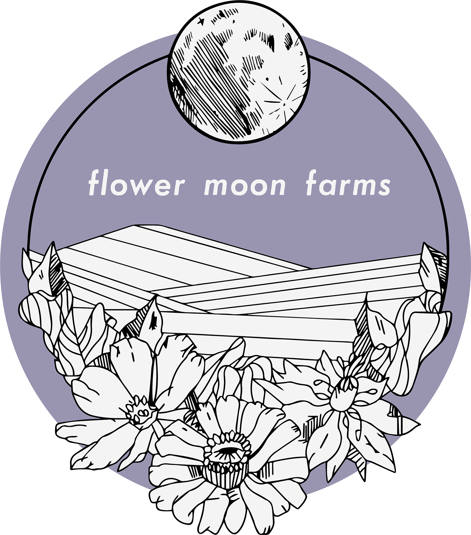 Flower Moon Farms Logo. CA. 2019.