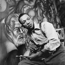 Charles White photographed by Rosenwald fellow Gordon Parks.