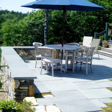 patio and stonewall