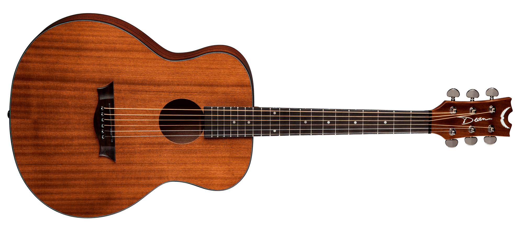 Acoustic Mini and Lesson Package $225 (reg $309) - 1.Dean AXS MINIThe Dean AXS Mini Acoustic Guitar is an affordable steel-string with a full sound and some amazing looking wood. It features a mini-size body made of mahogany with a top that really shows off this tonewood's exquisite grain, all highlighted by 3-ply body binding. The guitar is full-scale with a set mahognay neck and a comfortable