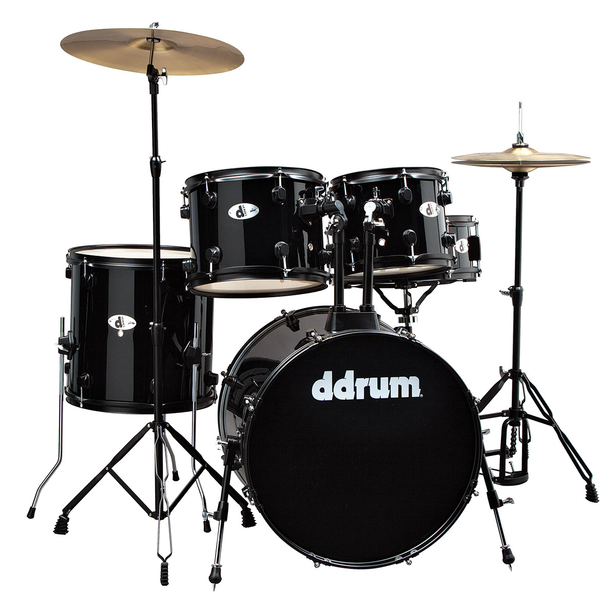 Complete drumset and Drum Lesson Package $469(reg $520) - DDrum D120B complete drumset with hardware, throne, and cymbals The ddrum d120B 5-Piece drum set offers power and tone packed into a compact format, with a slightly downscaled kick drum and toms. In addition to drums, the d120B kit includes a straight cymbal stand, hi-hat stand, kick pedal, snare stand, and even a throne plus 14