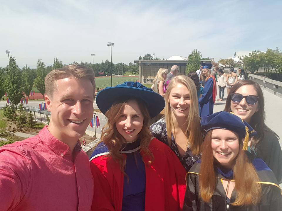 All smiles after Chantelle's PhD Convocation, June 2017