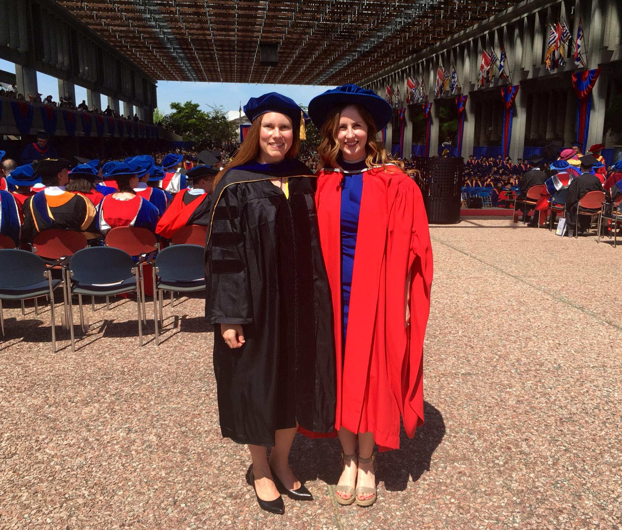 Dawn and Chantelle in their PhD regalia, June 2017