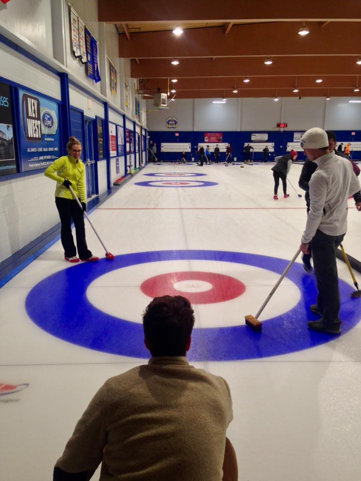 Curling at the Royal City Curling Club in New Westminster, Fall 2017