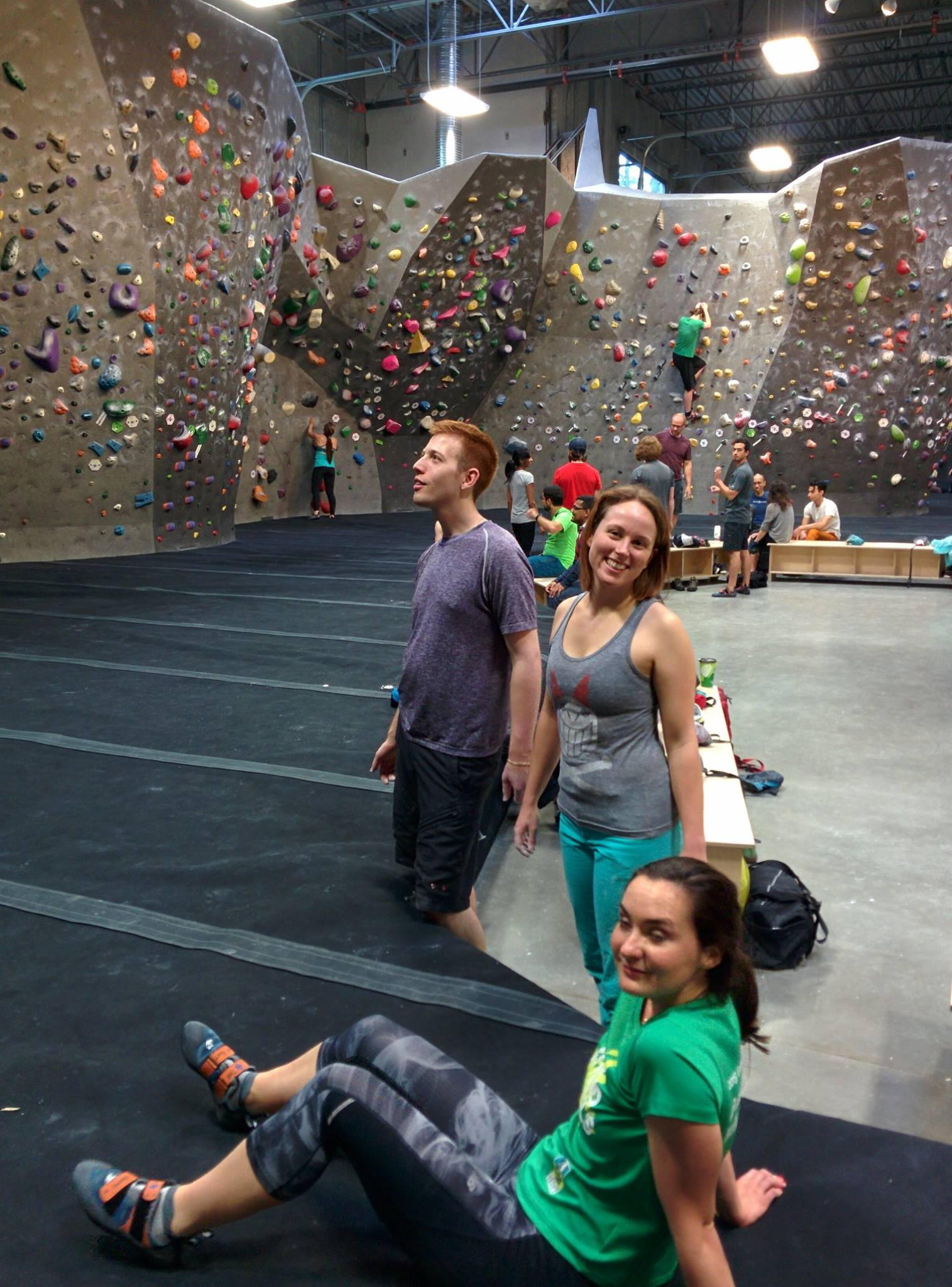 Bouldering with colleagues, Fall 2016