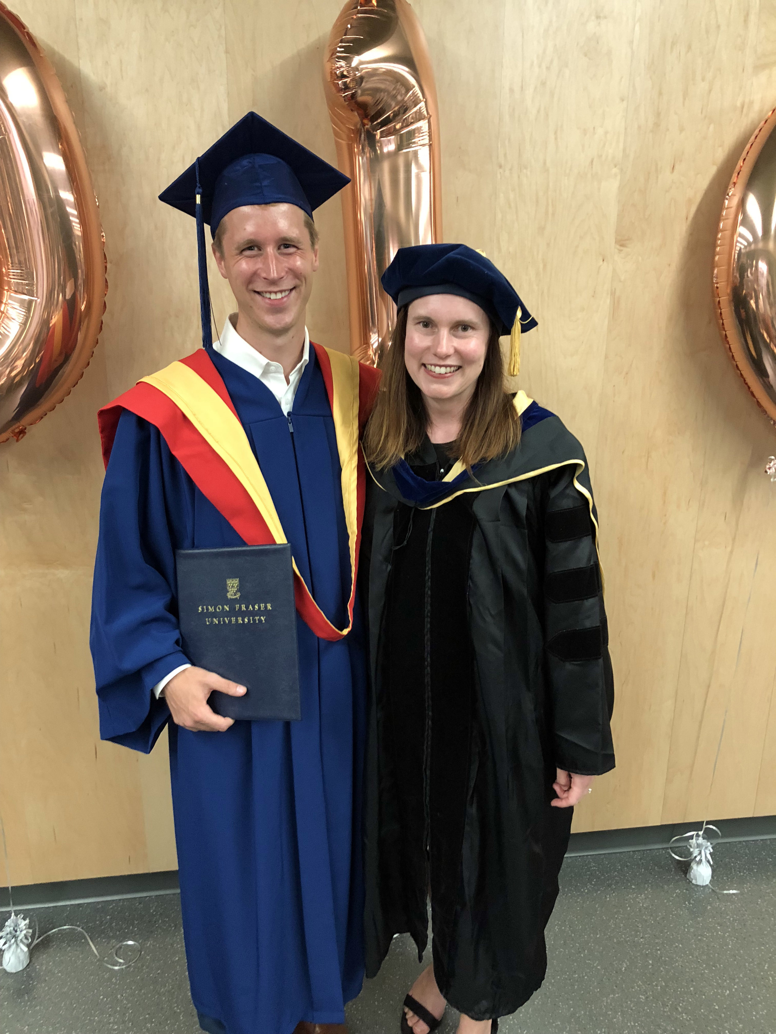 Tim and Dawn at Convocation, June 2019