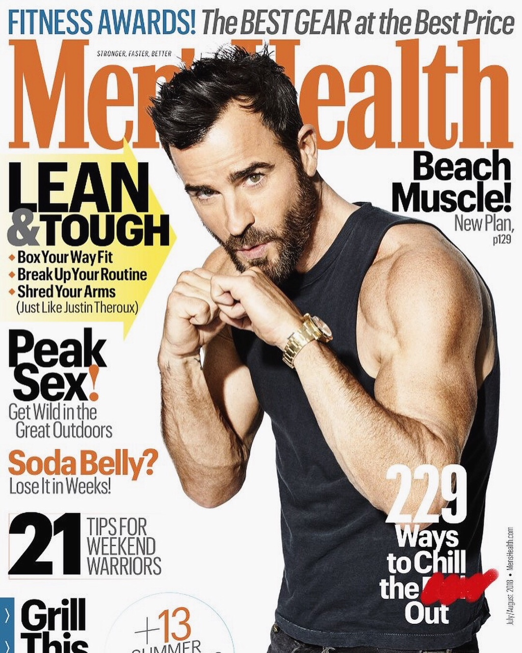 The 2018 July/August issue of Men's Health featuring Ultimate Hoops