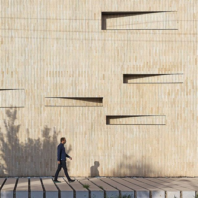 Yast Khaneh by Mohammad Khavarian + Amir Shahrad in Yazd, Iran #facadefriday
