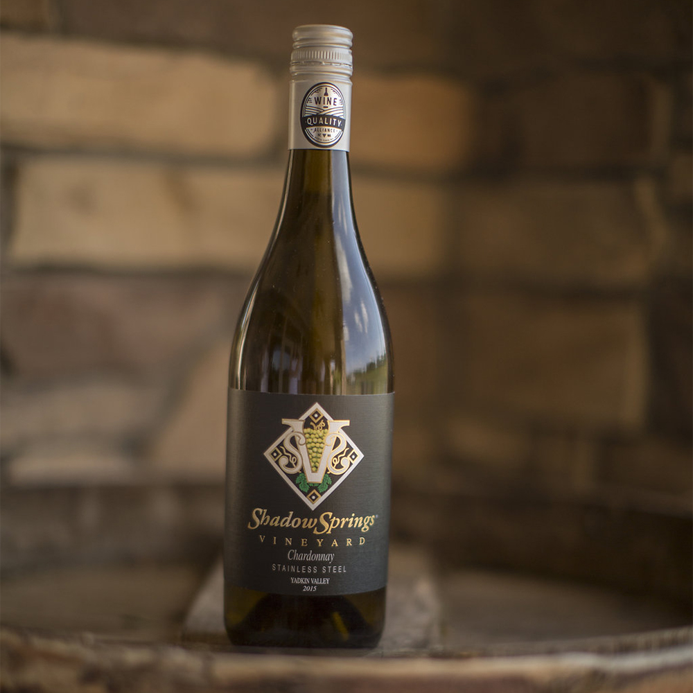 '15 Stainless Steel Chardonnay   $15  This stainless steel chardonnay has hints of Green Apple, Pear, and Lemon