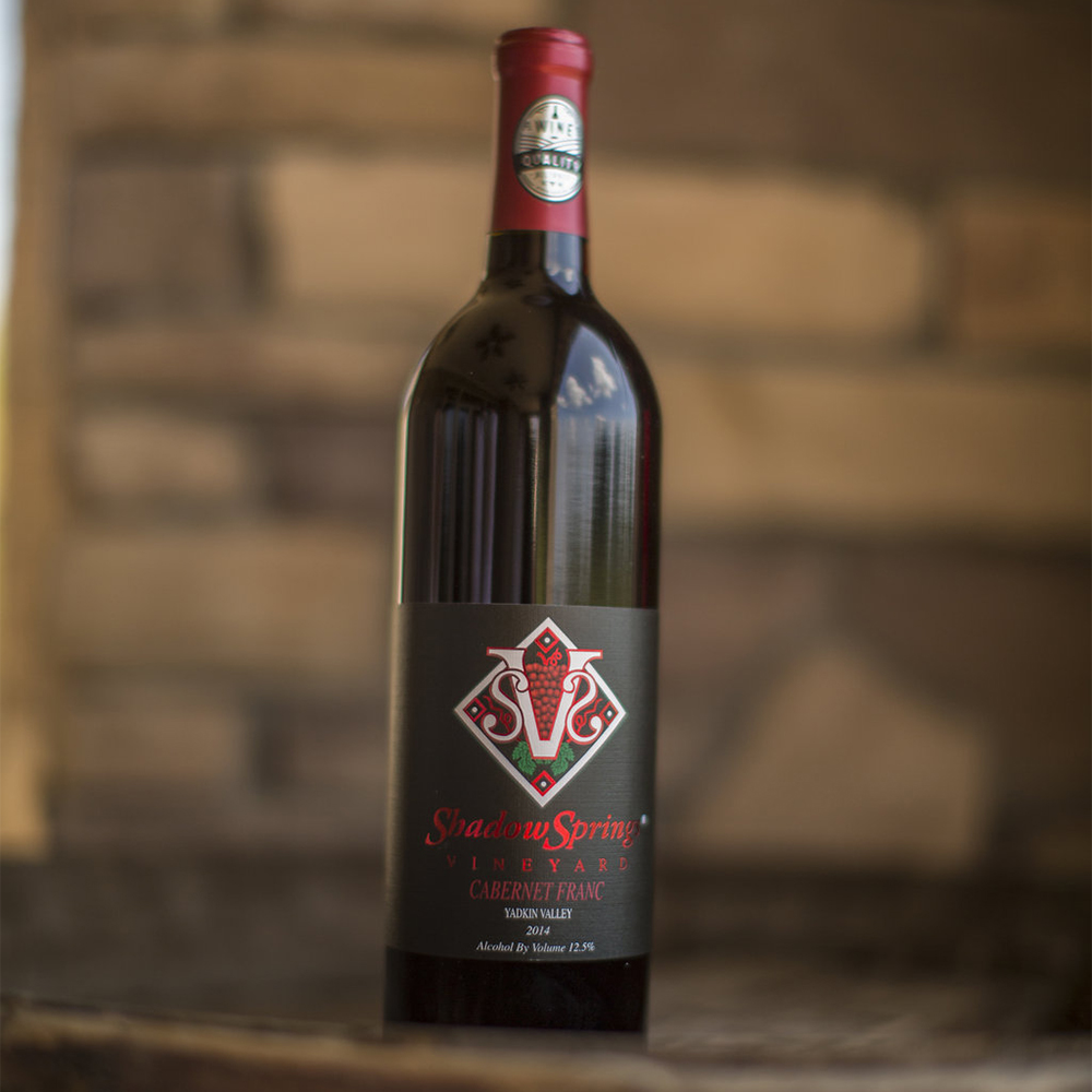 '14 Cabernet Franc   $20  A medium bodied red with strong aromas of cherry and oak. Lively acidity throughout the fruity finish makes this a perfect match for Italian food