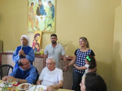 Testemunhos durante o almoço