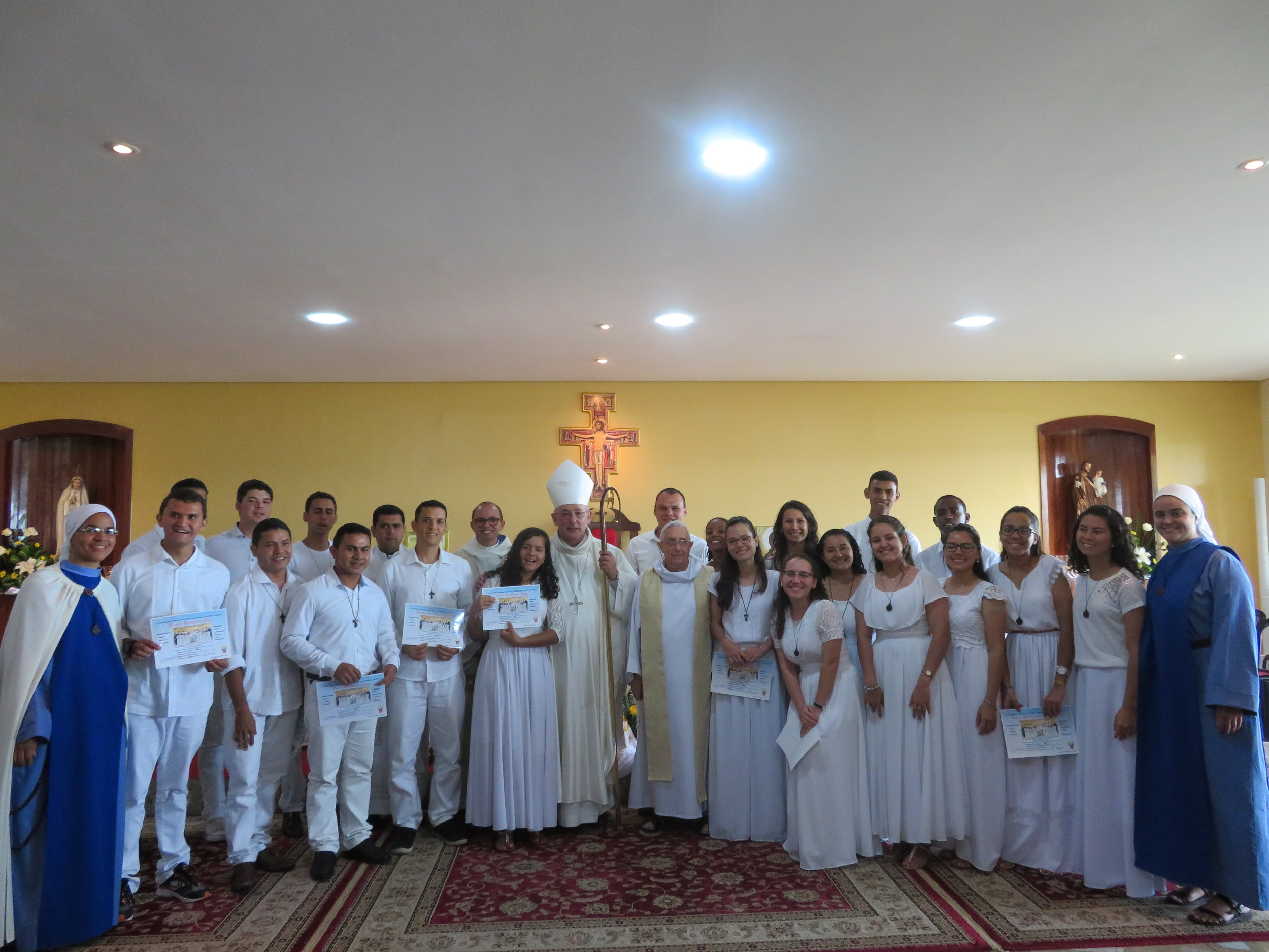 Foto oficial de encerramento do Ano Sabático 2017, casa Monte Tabor, Belém-PA