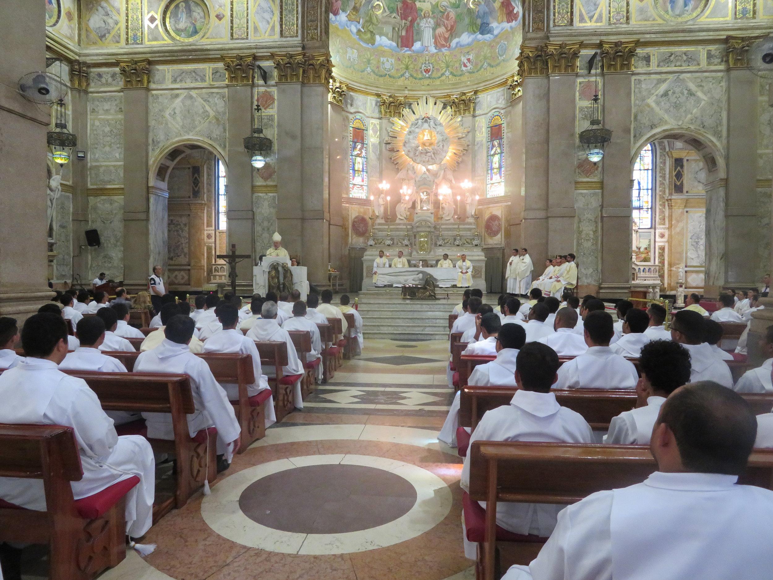 Missa de encerramento do RENASEM 2018 presidida por Dom Alberto na Basílica Santuário de Nossa Senhora de Nazaré
