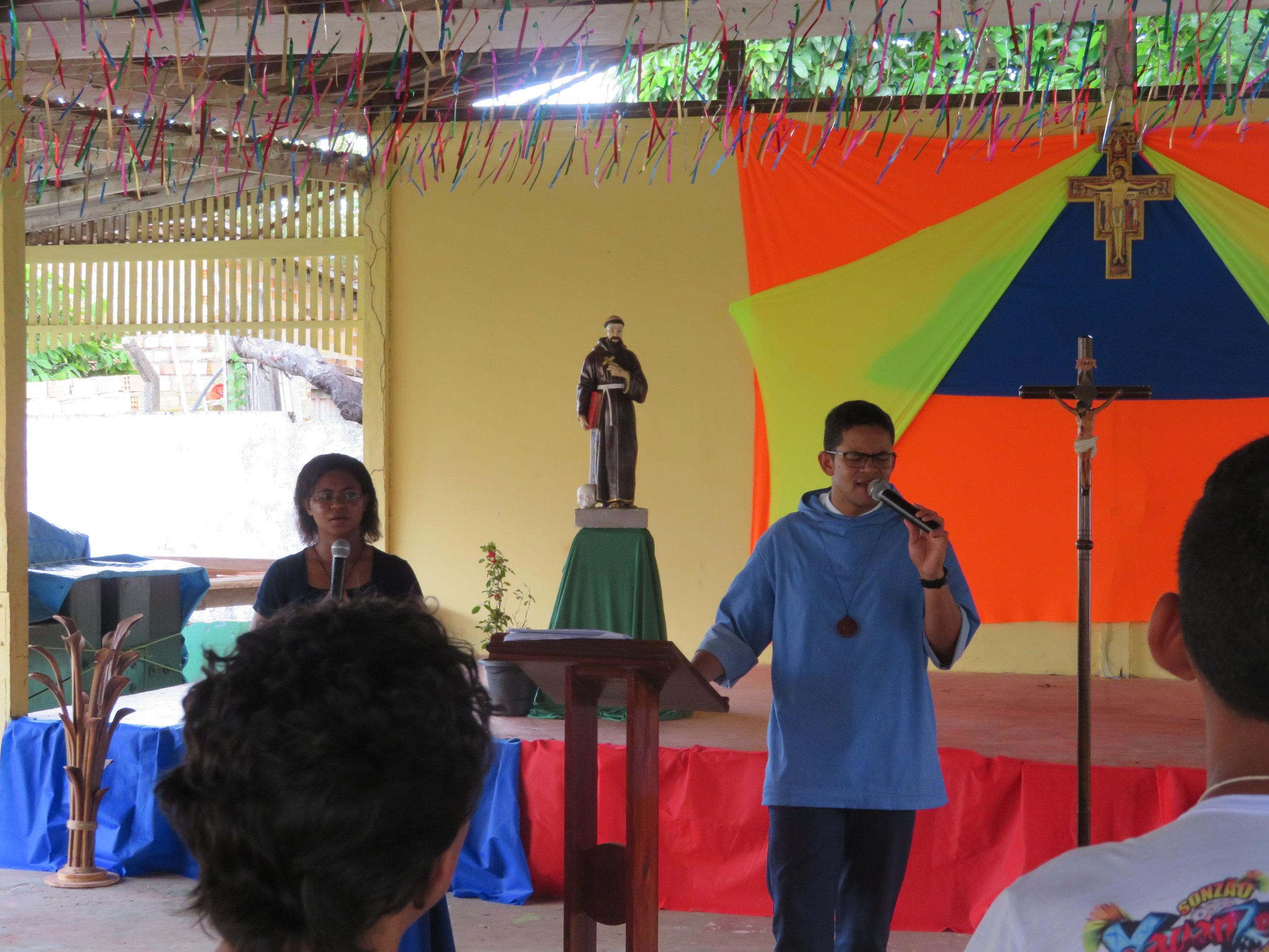 Ir Bernardo em missão na Ilha de Cotijuba - Belém/Pará