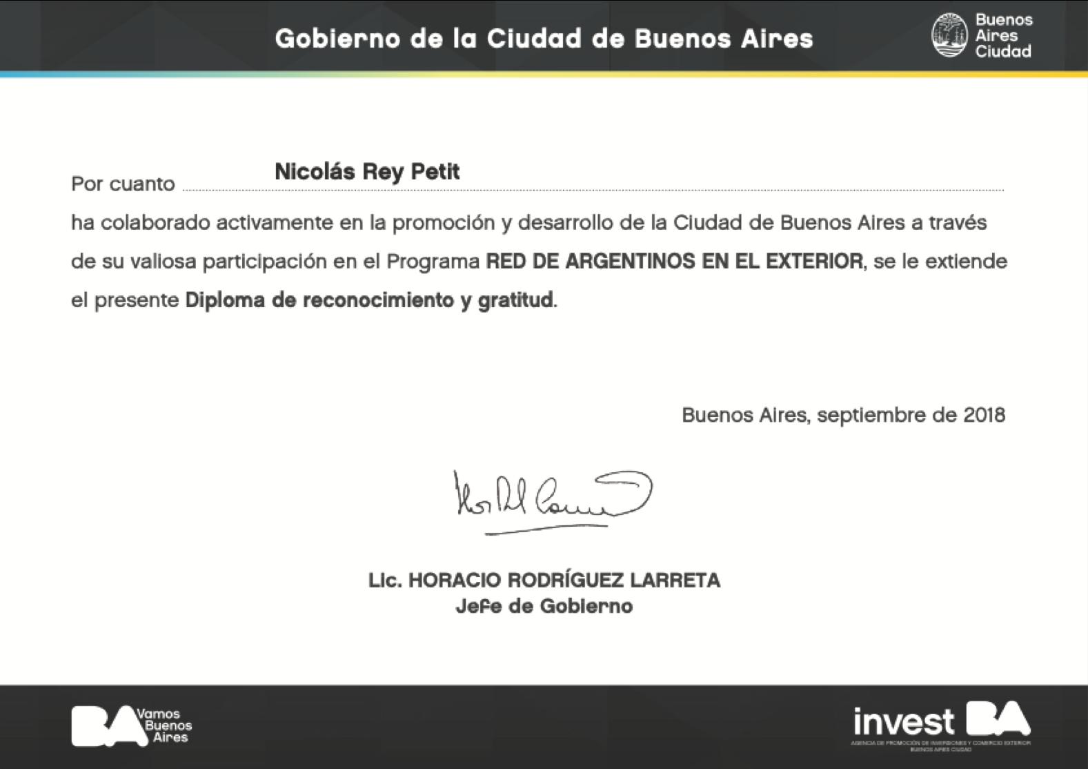 Nicolas Rey Petit Emprendedores Argentinos