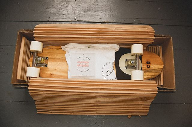 Boards and t-shirts being shipped in time for Christmas!! - Only a few left so check them out online! - We're using cushion paper to package these boards instead of bubble wrap. Not as satisfying to pop (I know) but much better for the environment!! . . . . . . #bristol #craft #cruising #skateboarding #springbreak #dailyskate #longboarding #summertime #handmade #sustainable #ecofriendly #claypaint #recycled #retro #oldskool #skateboardingisfun #bespoke #skateshop #board #boarding #deck #boarshop #woodenskateboard #workshop #madetolast #custom #handcrafted #gotwood #carnabycruisers #madewithlove