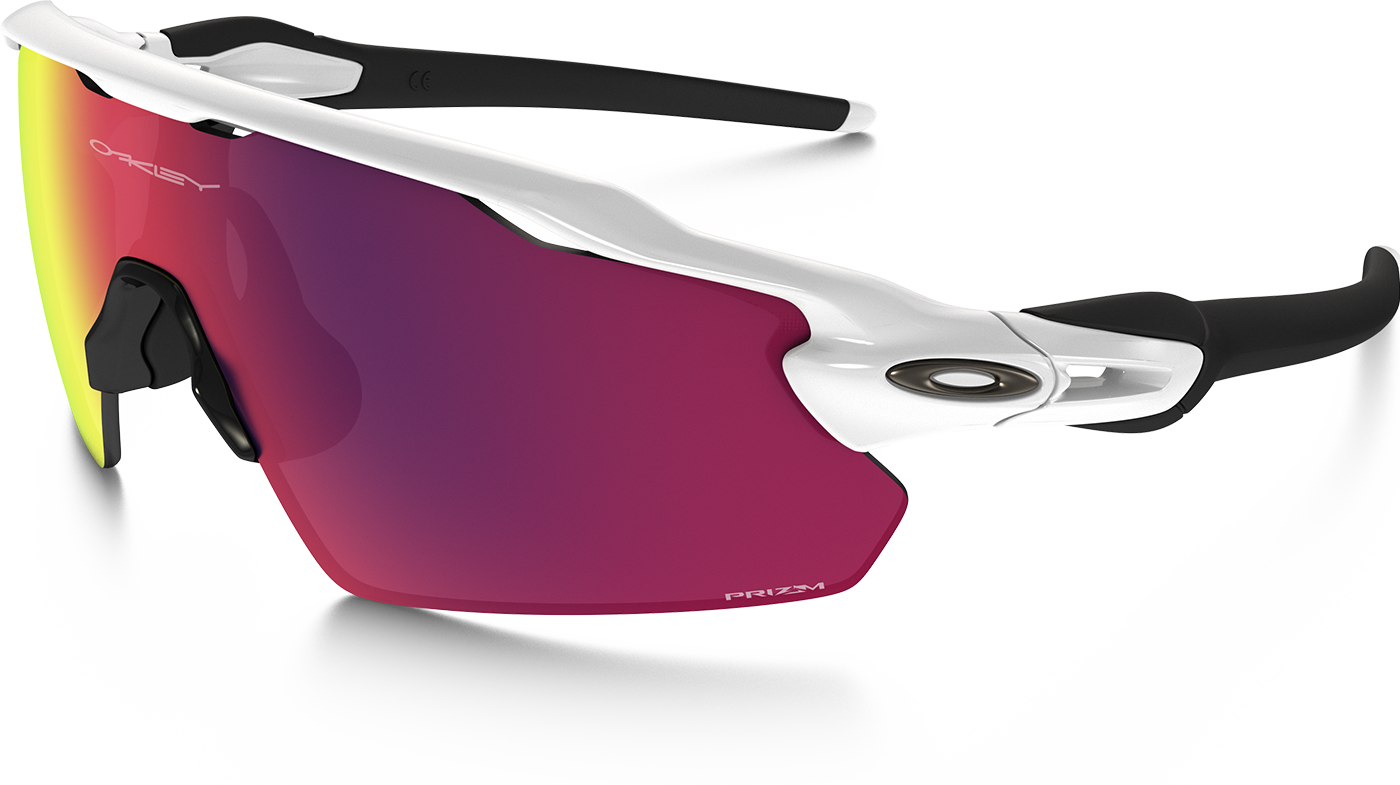 GAME SHADES• RADAR PATH EV MODEL (silver)  OAKLEY  Chaim's sole eyewear provider for 7 years.The RADAR PATH EV's give such a large field of view for up down and all around.  Oakley is the best for it's versatility (changeable lenses for different conditions).