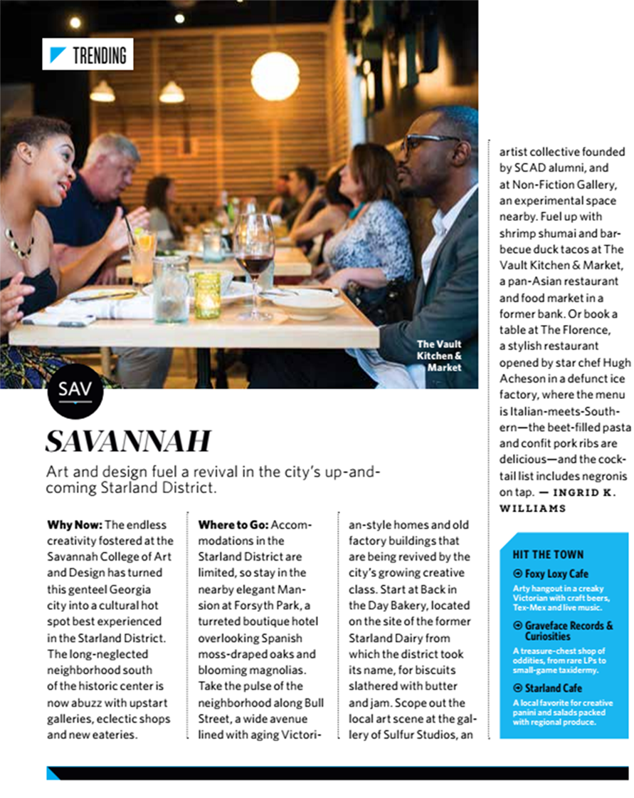 The Vault Kitchen and Market featured in Delta's Sky Magazine