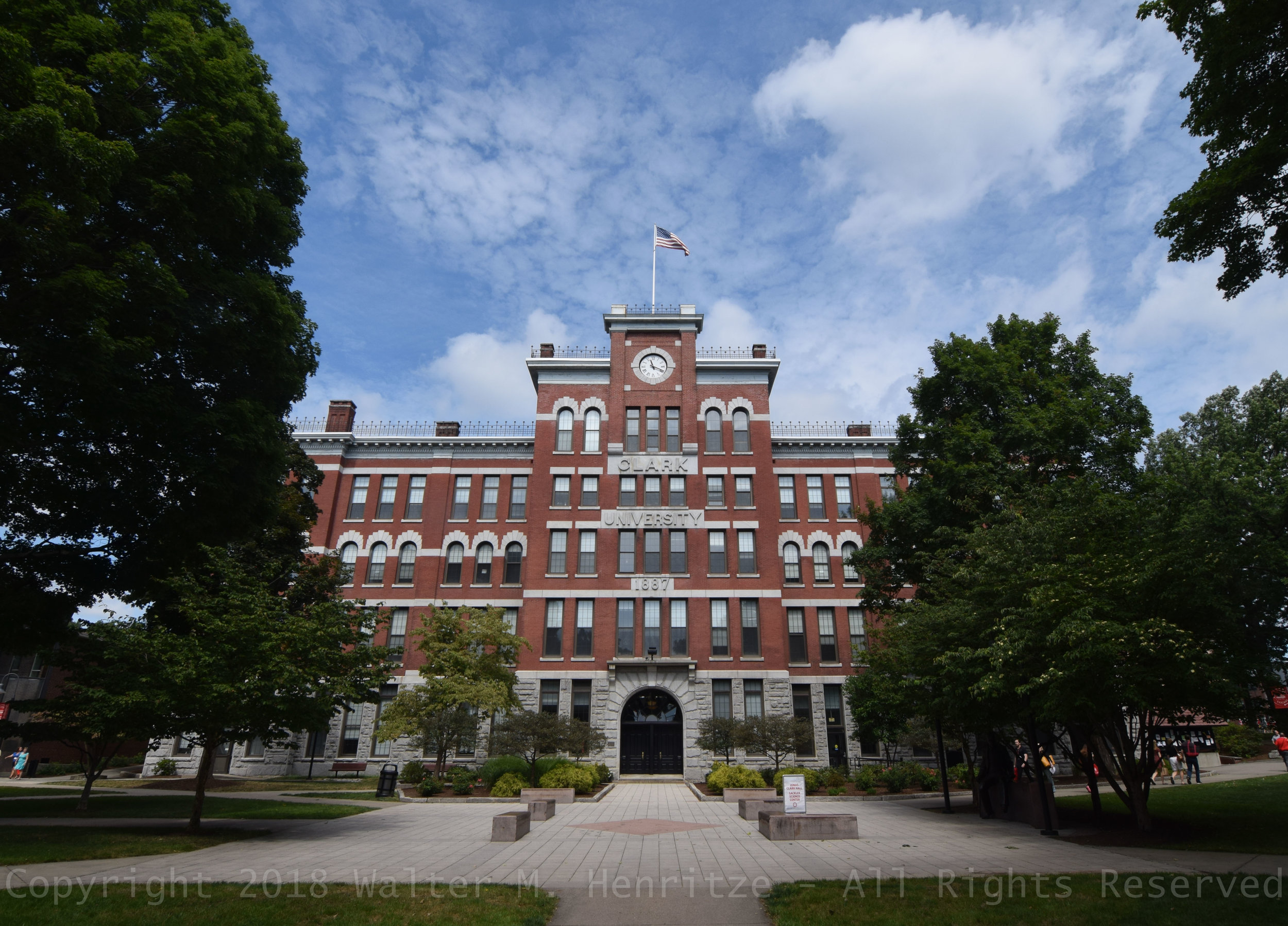 Jonas Clark Hall, Clark University: August 24, 2016