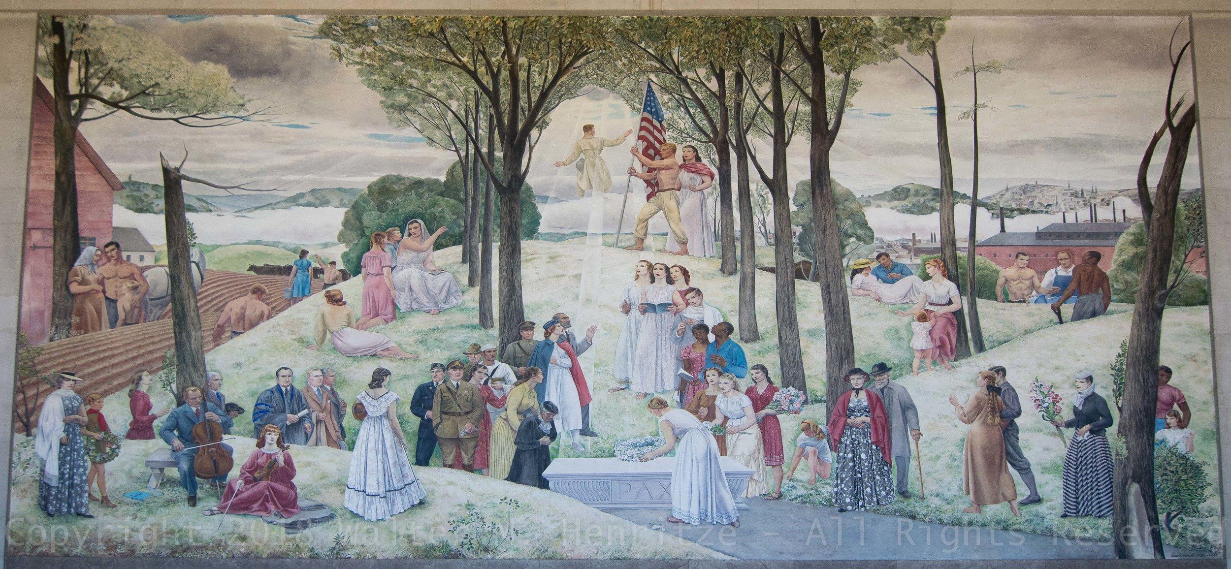 The Central Mural, 57 x 30 Feet