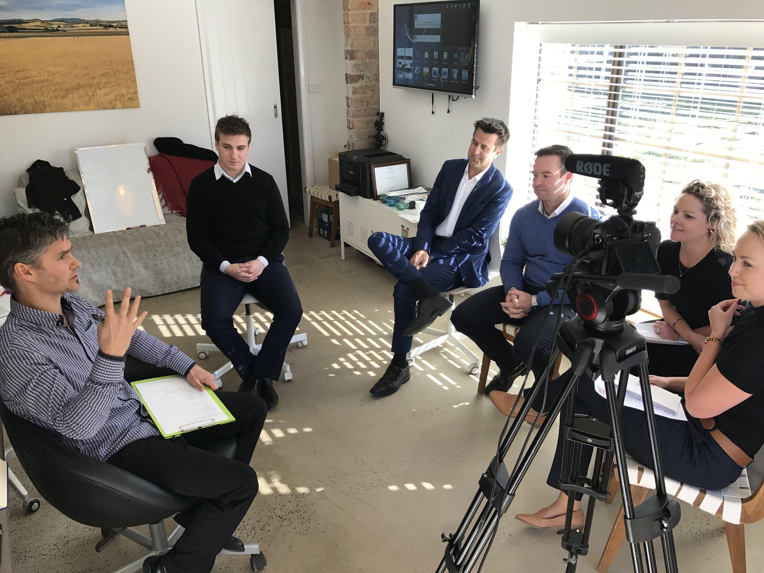 Dan Aubin takes the award-winning One Agency, Orange team through a 'presenting to camera' training.